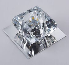 SQUARE 3w/5w Crystal LED Ceiling Chandelier Spotlight Downlight Warm/Cool White