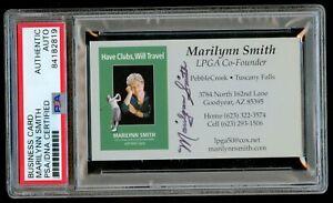 Marilynn Smith signed autograph LPGA Co-Founder Business Card PSA Slabbed