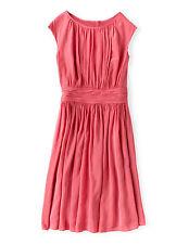 NWT $198 BODEN VISCOSE FULL SKIRT CARNATION PINK SELINA DRESS -SIZE US 6 *