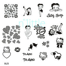 New Design DIY Nail Art Image Stamp Stamping Plates Manicure Template #XJ3