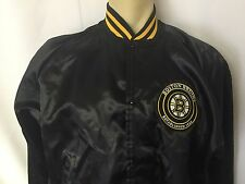 Boston Bruins Vintage Satin Sports Jacket Men's L Large NHL