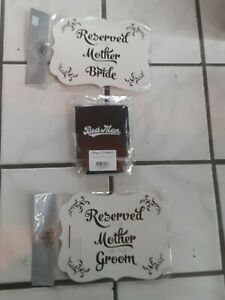 Wedding Party Can Coolers Chair Reserve Signs Mother Of Bride And Groom