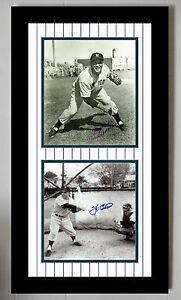 Yogi Berra & Allie Reynolds Signed JSA 8X10 Photo Auto Autographed Framed Matted