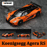 Tarmac Works 1:64 Scale Diecast Car Koenigsegg Agera RS Orange Alloy Model Gift