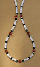 CORAL NUGGET NECKLACE GENUINE GEMSTONE HEISHE SILVER BEAD ACTIVE WEAR GEAR