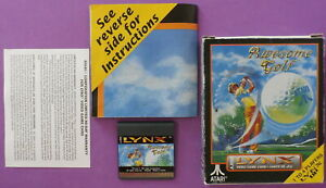 Awesome Golf (Lynx, 1991) with Box & Manual