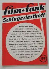 Schlagertextheft Film + Funk Nummer 89