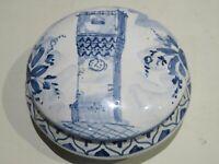 vecchio portagioie cofanetto in ceramica ALBATRO SAVONA scatola torre orologio