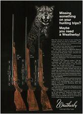1969 WEATHERBY Magnum Bolt-Action Rifle With Scope Jaguar VTG PRINT AD
