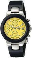 Men's Analog Quartz Chronograph Black Aluminum Bezel & Bracelet Watch