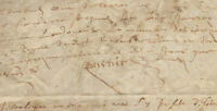 1606 post medieval manuscript parchment DAMAGED ONCIAL signatures Authentic RARE