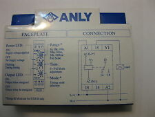 NEW ANLY Industrial Timer H3D-M  12~240VAC/DC 1S~100Hr DIN track type