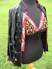 NEW RETRO LEOPARD BRA JACKET TOP ASIAN CAMi PiNUP BURLESQUE ViVE LAS VEGAS SET S