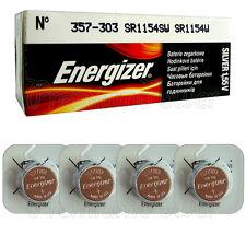 4 x Energizer Silver Oxide 357/303 batteries 1.55V D357 V357 SR44 Watch