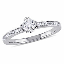 Amour 1/2 CT TW Diamond Raised Engagement Ring in 14k White Gold