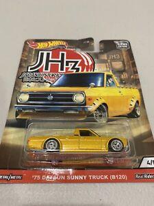 Hot wheels japan historics 3 JH3 '75 Datsun Sunny Truck ~ Datto 1200 ute