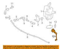85208-47020 Toyota Actuator sub-assy, headlamp washer, lh 8520847020, New Genuin