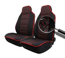 2x Sitzauflage Sitzkissen Sitzmatten Rückenkissen Kunstleder+Stoff Auto KFZ