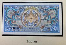 Bhutan 1 Ngultrum 1985 P12 Crisp UNC Note
