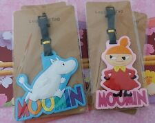Lot of 2 Moomin Valley Characters Moomintroll n Little My Plastic Luggage Tag  A