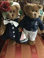 "Bearington Bears ""Captain&Tenille "" Set/2~W/Stands~ w/tags.~14""~Wow!Retired~H tf"