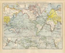 Schede per la storia della geografia Erodoto Ptolemaeus Strabo Brockhaus 2051