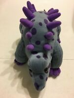 "King Plush Blue And Purple Dinosaur 15"" Plush Stuffed Animal"