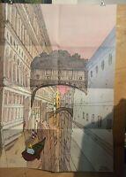 Affiche Moebius Jean Giraud Venise Céleste 174/300 signée 100x68 cm  pliée en 8