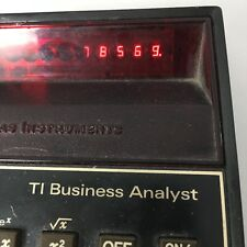 Vintage Texas Instruments TI Business Analyst Calculator LED Retro 08A14