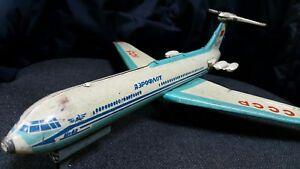 VNTG. TIN TOY AEROFLOT IL 62 FRICTION JET AIRPLANE AIRCRAFT SOVIET RUSSIA CCCP