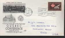 Canada - Quebec Conference - 432 Fdc - Rose Craft Cachet - 1964