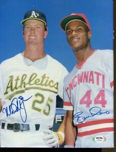 Mark McGwire Eric Davis Signed 1987 Beckett Magazine Autograph PSA/DNA AJ55463
