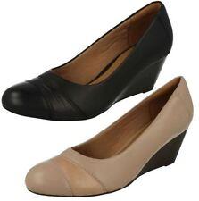 Clarks 100% Leather Wedge Mid (1.5-3 in.) Women's Heels