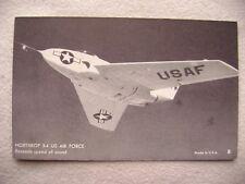 ca.1950's Arcade Card - Northrop X4. US Air Force. Exceeds speed of sound.