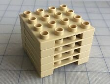 Rare Lot of 5 LEGO DUPLO Tan Pallets for Forklift