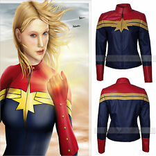 Carol Danvers Captain Marvel Costume Womens Leather Jacket - SALE