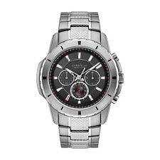 Caravelle Men's 43A137 Quartz Chronograph Black Dial Bracelet 44mm Watch