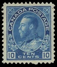 "CANADA 117 - King George V ""Admiral"" Blue 1922 Wet Print (pf89354) $80"