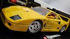 NEW Bburago 1/18 Scale 1987 Ferrari F40 Yellow Burago Rare Discontinued COD 3022