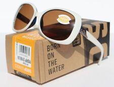 COSTA DEL MAR Sea Fan 580P POLARIZED Sunglasses Womens White Topaz/Amber NEW