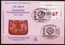 BRD FDC MiNr  2247 (PMR Nr 193Fc) 100 Jahre Deutsches Freimaurermuseum -Museum-