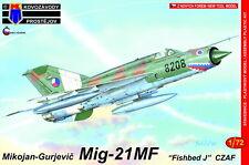 """Kovozavody Prostejov 1/72 Mikoyan MiG-21MF """"Fishbed J"""" CZAF # 7284"""