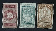 CKStamps: Italian Stamps Collection Scott#133-135 Mint H OG