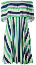 Brand New Ex M&S Striped Half Sleeve Bardot Dress Sizes 6-8-10-12-14-16-18-24