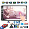 """7"""" Car MP5 Player Bluetooth Touch Screen Stereo Radio USB AUX Double 2DIN +Frame"""