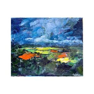 ORIGINAL Landscape Oil Painting On Canvas 12x9 Inches