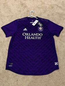 Mens XL Orlando City SC Adidas AeroReady Authentic Soccer Jersey NWT $120