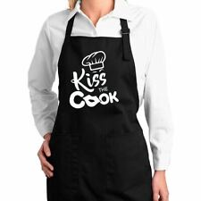 Kiss the Cook Funny Classic Kitchen Cooking Apron with Pockets