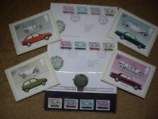 Royal Mail MotorCars Stamps1982 Presentation Pack,Card Set &Two First Day Covers