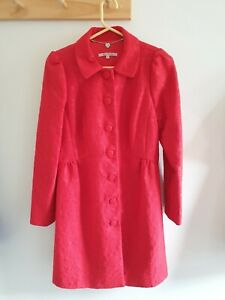 Review Size 14 Red Brocade Coat